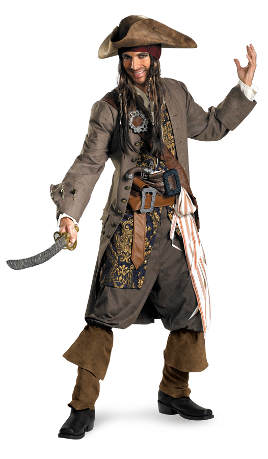 jack sparrow kost m deluxe fluch der karibik kost m. Black Bedroom Furniture Sets. Home Design Ideas